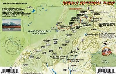 Denali National Park Map & Wildlife Guide Laminated Card Franko Maps