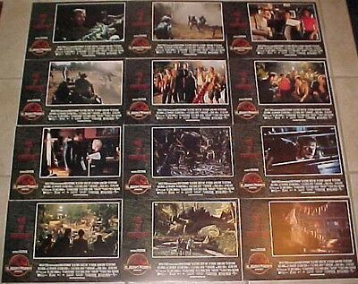 Jurassic Park Lost World lobby card set Spielberg Jeff Goldblum Julianne Moore