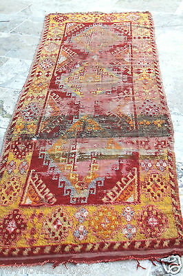 Stunning Antique Tribal Divan Dowry Runner Pile Rug c1920s Collector item Turkey