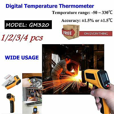 4 PCS Nice Non-Contact LCD IR Laser Infrared Digital Temperature Thermometer Gun