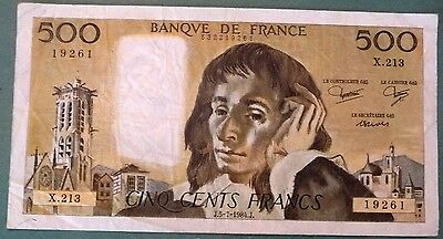 FRANCE 500 FRANCS, P 156 e, ISSUED 05.07. 1984 PASCAL