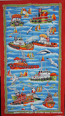 WALL OR QUILT PANELS  - TERRY THE TUGBOAT & FRIENDS - PANEL by NUTEX
