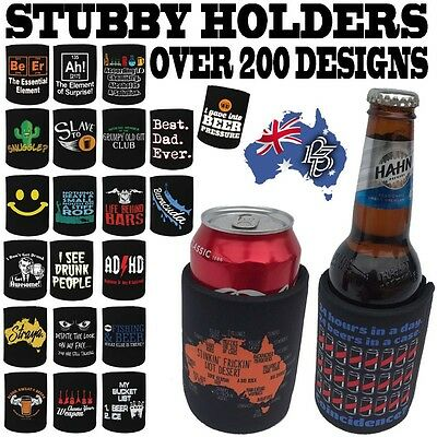 STUBBY HOLDER - Beer Tin Bottle Can Cooler Funny Present Birthday Christmas Gift