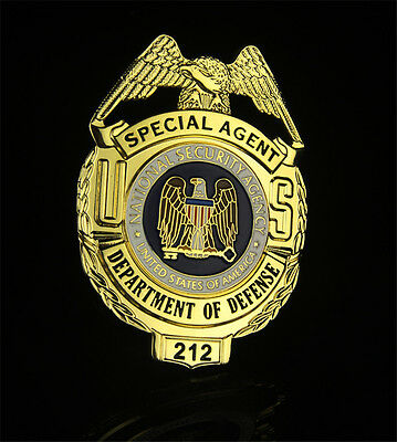 High Quality US Pure Copper Department of Defense Badge 212 Collection Gift