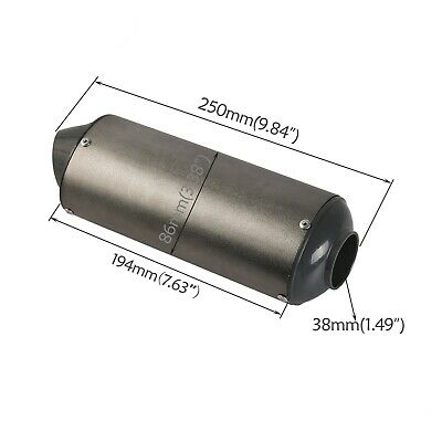 38mm Exhaust Pipe Muffler 200 250cc 300cc ATV Quad Buggy Scooter Motorcycle su02