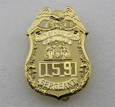 United States CITY Of NEW YORK SERGEANT Pure Copper Badge 159 Collection