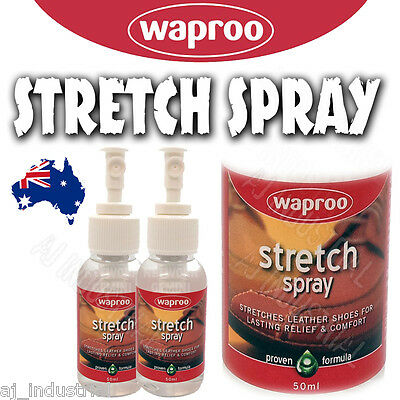 Waproo Leather Stretch Spray - Mens Ladies - Shoes Boots Expander - Tight Relief