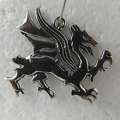 Dragon St. George Pewter Pendant Made in Australia 1 bail For Necklace Keyring