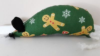 Christmas Catnip Mouse -  Gingerbread Man - Handmade Cat Toy  X Strong Catnip