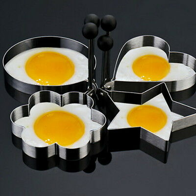 1pc Novelty Stainless Steel Fried Egg Shaper Ring Pancake Mould Cooking Tool WL
