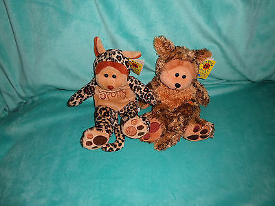 Beanie Kids lot of 2 Spotty the Leopard & Pounce the Jaguar With tags