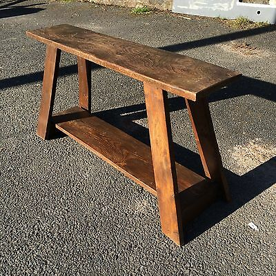 Antique oak bench - rustic vintage bench - display or seating, Oak CAN NOW DELIV
