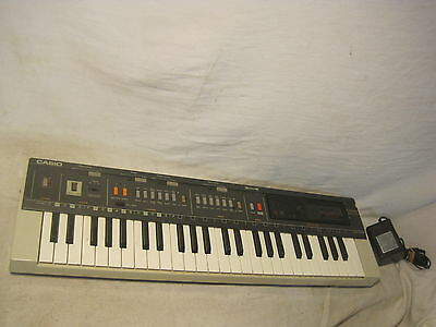 *CASIO MT-800 electronic keyboard synthesizer vintage music piano + power