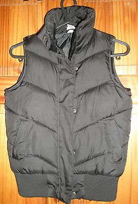 Kylie Girls Black Body Warmer/gillet Age 9-10