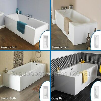 Modern Single Double Ended Rectangle Square Bathroom Bath Encapsulated Acrylic
