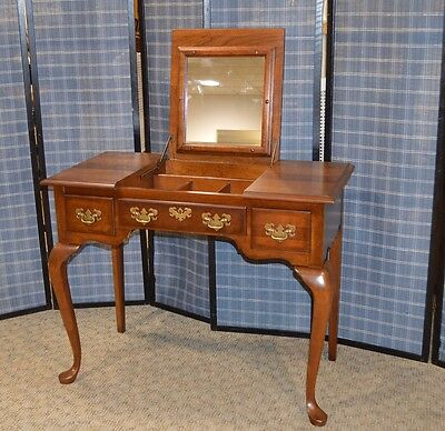 Vintage Pennsylvania House Queen Anne Style Solid Cherry Vanity Desk