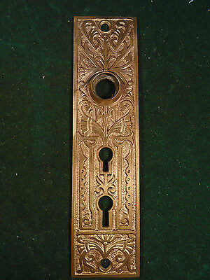 Vintage Cast Brass Eastlake Oversize Backplate - Double Key Holes (6328)