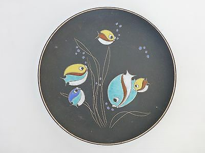Ruscha : Plate Decorative Decorated With Fish Vintage 1950 - 1960