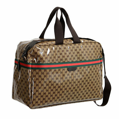 Gucci Women's Crystal GG Canvas Large Travel Carry-On Luggage Bag