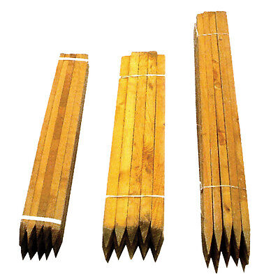 1.8m x 32mm Square Pointed Wooden Tree Stakes Posts Wood
