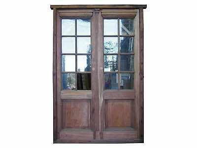 Antique Double French Patio Door Glass Installed #D1006
