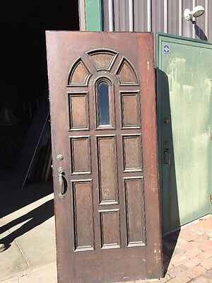 Ar 137 Antique 36 Inch Entrance Door Beveled Glass  Raised Panels