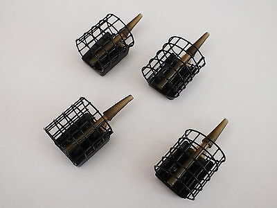 4 Dinsmores Inline Cage Match Feeders,carp,commercial,groundbait,pellets,fishing