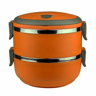 Ospard Stainless Steel Insulated Lunchbox (2, Orange)