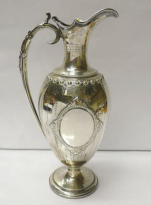 Victorian Silver Wine Ewer Made by BARNARD BROTHERS 1872. Stock ID 8606