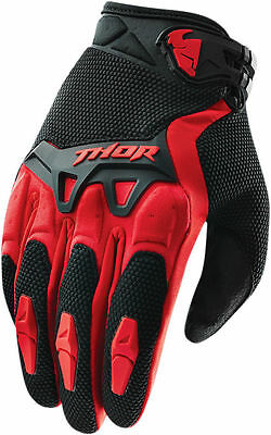 Thor Spectrum Motocross Offroad Riding Gloves Assorted Sizes Red