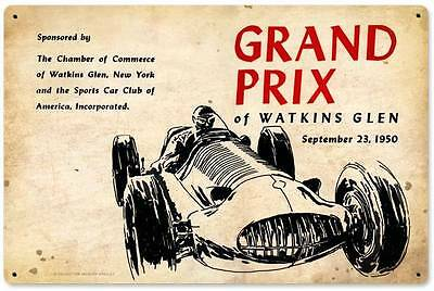 Watkins Glen Grand Prix Racing 1950 Metal Sign Man Cave Garage Body Shop JG094