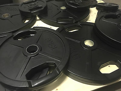 Rubber Coated Olympic Weight Plates / Disks - Commercial / Home Gym Equipment