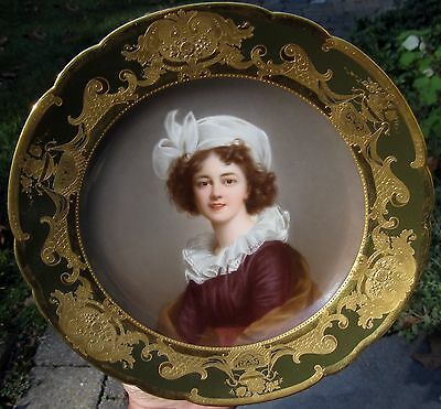 ROYAL VIENNA plate with self portrait of Vigee Lebrun