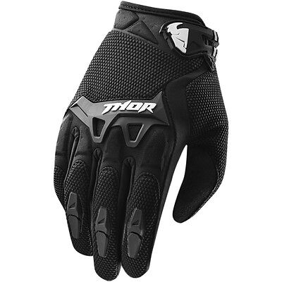 Thor Spectrum Motocross Offroad Riding Gloves Assorted Sizes Black