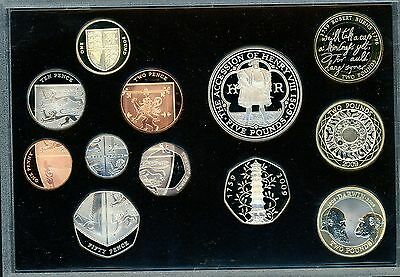 2009 UK  Executive Proof Set inc.  Kew Gardens 50p. Cert and Box of Issue