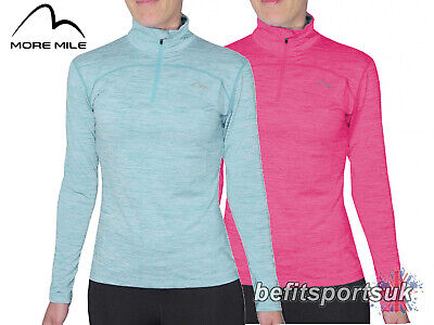 More Mile Ua Childrens Youths Girls Long Sleeve 1/4 Zip Cold Running Jersey Top