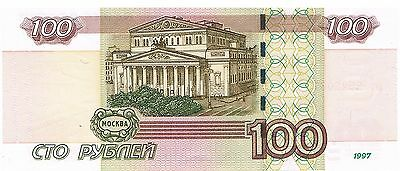 New Russian Paper Money. 100 Rubles Banknote 1997 100 Roubles
