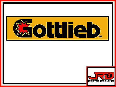 Gottlieb Vinyl Pinball Stickers in Black,Yellow and Red