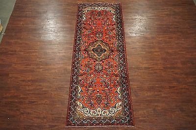 Antique 4X11 Persian Lilihan Hand-Knotted Wool Gallery Runner Oriental Rug