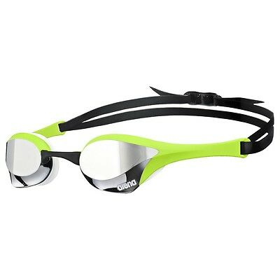 ARENA Cobra Ultra Mirror Swimming Goggles Silver/Green/White Racing & Perfomance