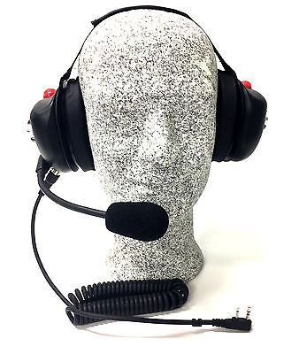 High Noise Headset for Kenwood two-pin radios, Behind-the-head Model