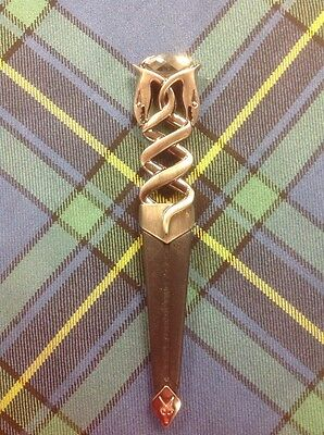 Serpent Safety Sgian Dubh with Antique Finish For Kilt Outfit Highland Wear