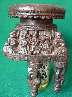 antique asian ceremonial wood carving