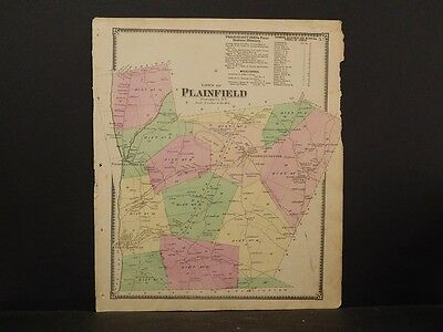 New York Otsego County Map 1868 Town of Plainfield N4#76