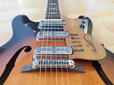vintage HOPF GALAXIE thin archtop ES style semi electric guitar 1960s Germany