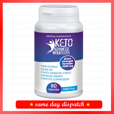 KETO Advanced Weight Loss Diet Ketosis Supplements To Fat Burn & Carb 80 cap