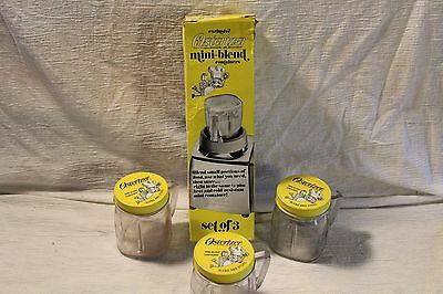Exclusive Set of 3 OSTERIZER Liquifier Blender Mini-Blend CONTAINERS