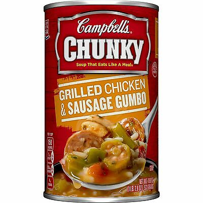 Campbell's Chunky Soup Grilled Chicken & Sausage Gumbo 18.8 Ounce (Pack of 12)