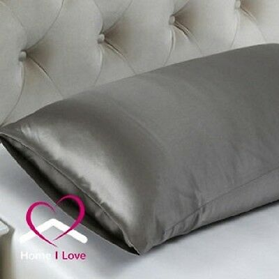 100% Silk Charcoal 1 Pillowcase 19 mm AntiAgeing Pamper Skin&Hair 70x50 cm