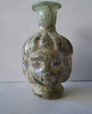 Aantik Roman Decorated Glass Pitcher With Face